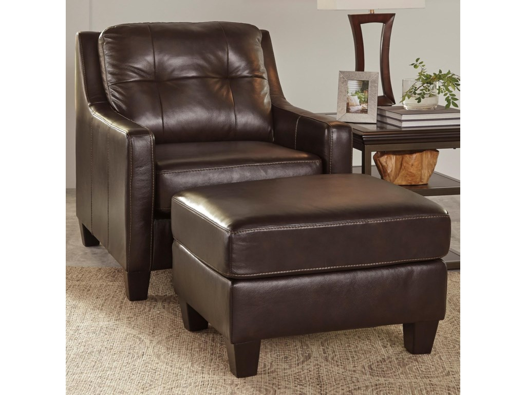 Signature Design By Ashley O Kean Contemporary Leather Match Chair