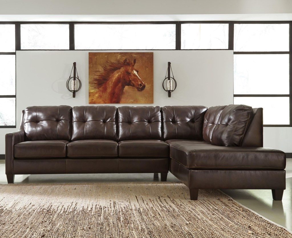 Signature Design by Ashley O Kean Leather Match 2 Piece Sectional