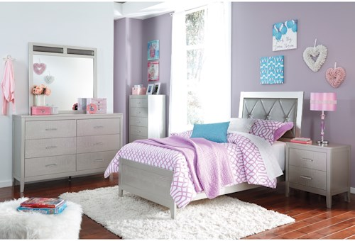 Signature Design by Ashley Olivet Glam Twin Bedroom Group
