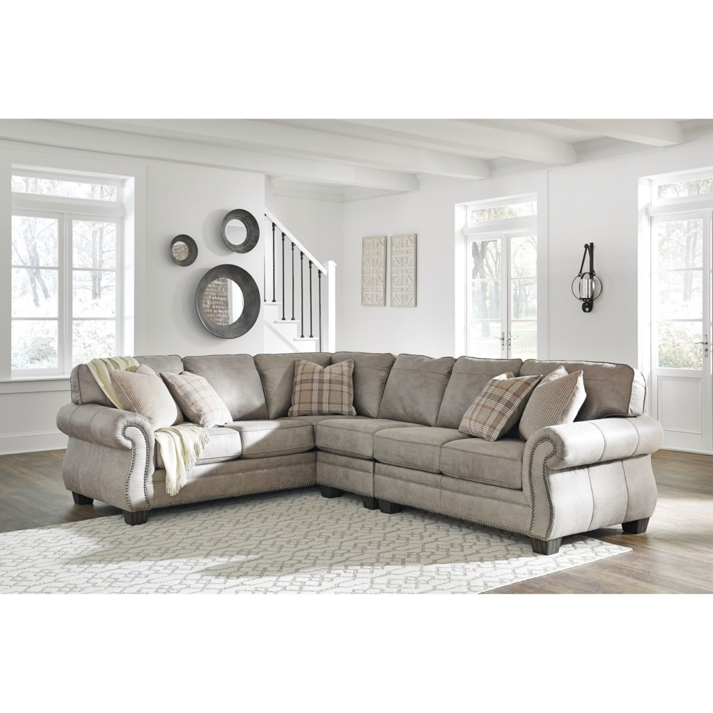 Signature Design By Ashley Olsberg3 Piece L Shaped Sectional