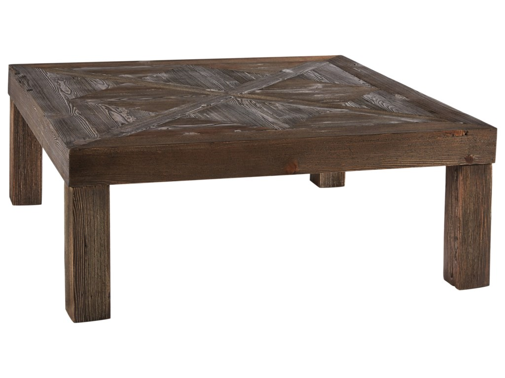 Signature Design By Ashley Ossereene T Rustic Square Cocktail - Ashley veldar coffee table