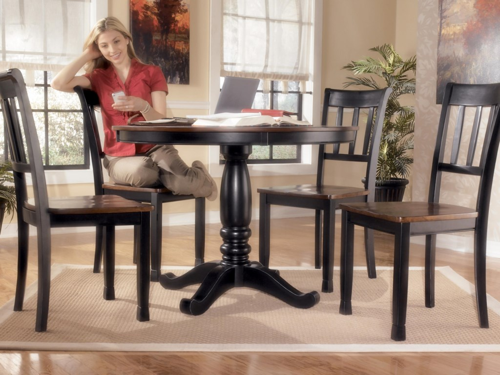 Ashley (Signature Design) Owingsville5-Piece Round Dining Table Set