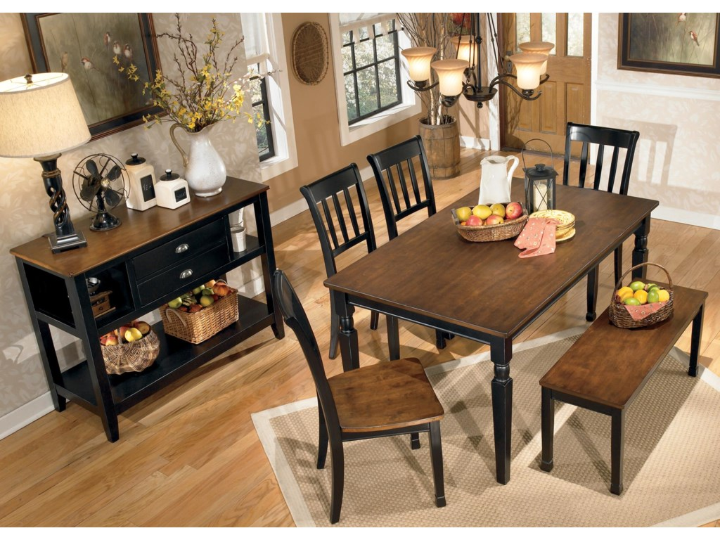 Signature Design by Ashley Owingsville6-Piece Rectangular Table Set with Bench