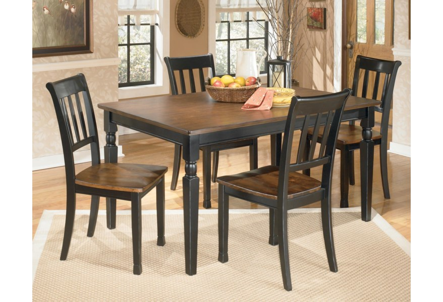 Owingsville 5-Piece Rectangular Dining Table Set by Signature Design by  Ashley at Houston\'s Yuma Furniture