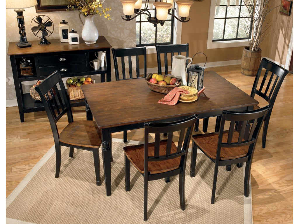 Signature Design By Ashley Owingsville 7 Piece Rectangular Dining Table Set