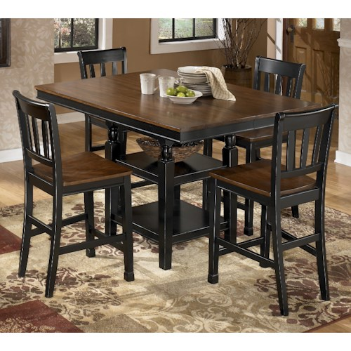 Signature Design by Ashley Owingsville 5-Piece Counter Extension Table Set