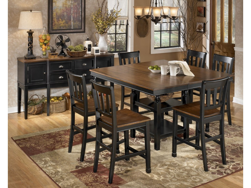 Shown with Server and 6 Bar Stools