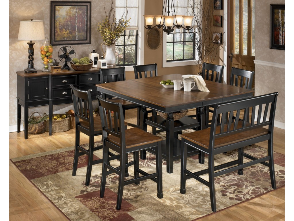Shown with Server, 6 Bar Stools, and Double Bar Stool