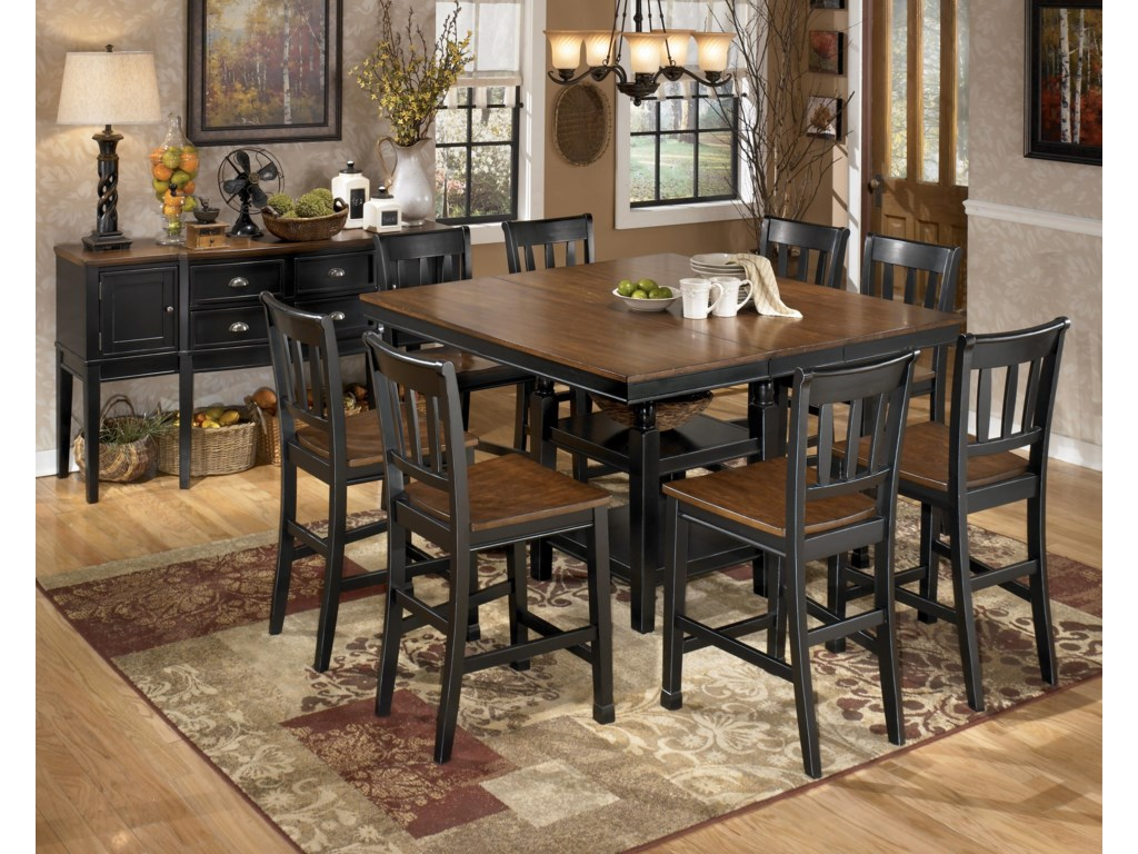 Shown with Server and 8 Bar Stools