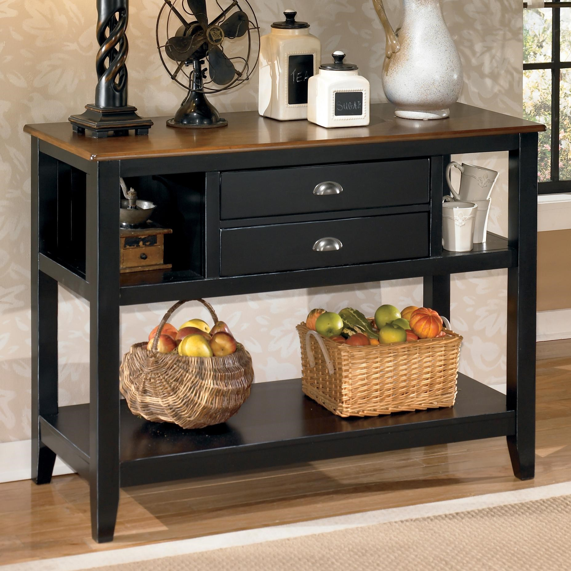 Good Signature Design By Ashley Owingsville Two Tone Dining Room Server Part 4