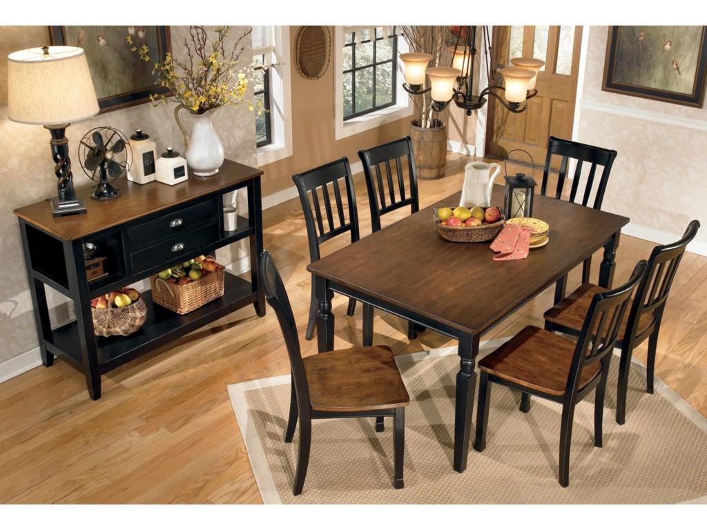 Signature Design By Ashley Owingsville Two Tone Dining Room Server