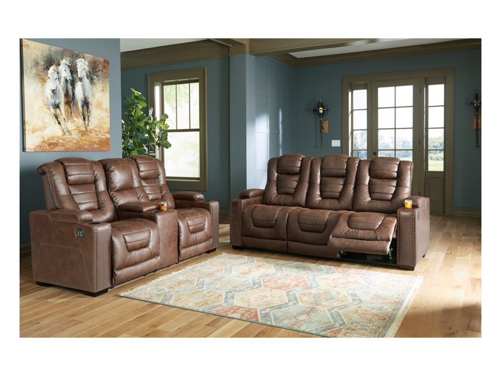Signature Design by Ashley Owner's BoxPower Reclining Living Room Group