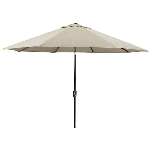 Signature Design by Ashley Umbrella Accessories Large Auto Tilt Umbrella