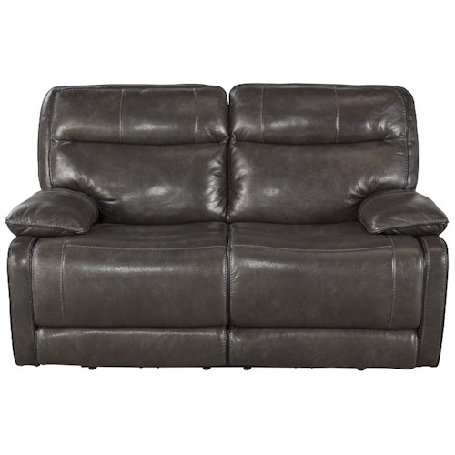 Signature Design by Ashley Palladum Leather Match Contemporary Reclining Loveseat