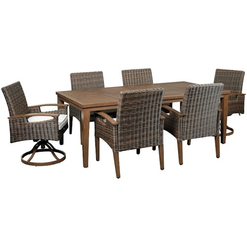 Signature Design By Ashley Paradise Trail Contemporary 7 Piece