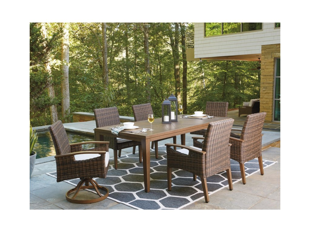 Ashley (Signature Design) Paradise Trail7 Piece Outdoor Dining Set