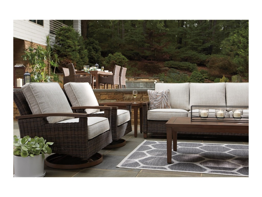 Signature Design by Ashley Paradise TrailOutdoor Conversation Set
