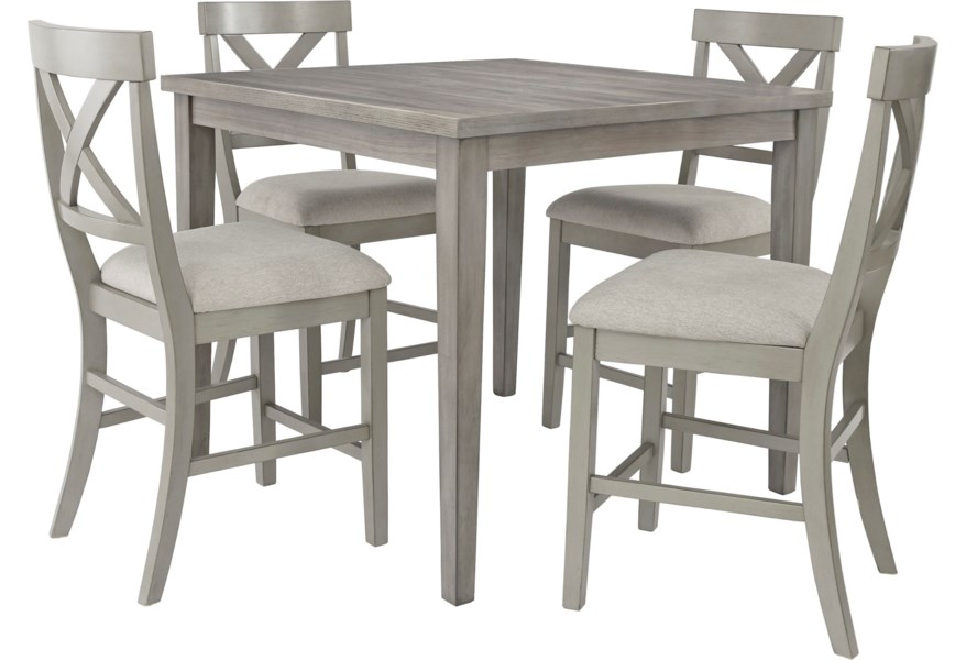 Ashley Signature Design Parellen D291 13 4x 124 Casual 5 Piece Counter Table And Chair Set O Dunk O Bright Furniture Pub Table And Stool Sets