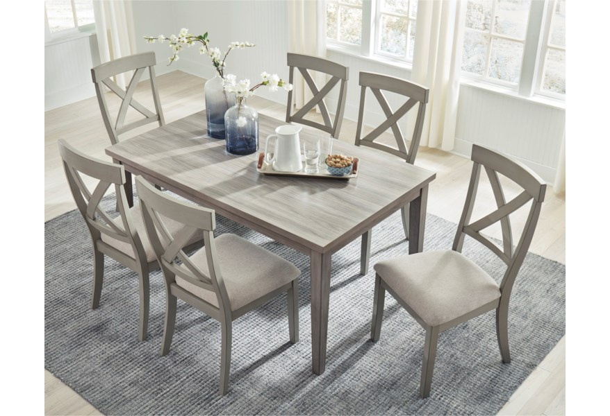 Ashley Signature Design Parellen Casual Rectangular Dining Table With Melamine Top Rooms And Rest Dining Tables