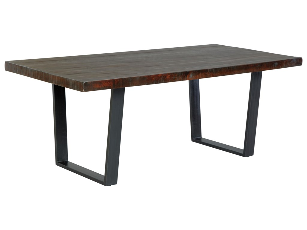 Modern rustic furniture - Signature Design By Ashley Parlone Modern Rustic Rectangular Dining Room Table Furniture And Appliancemart Dining Tables