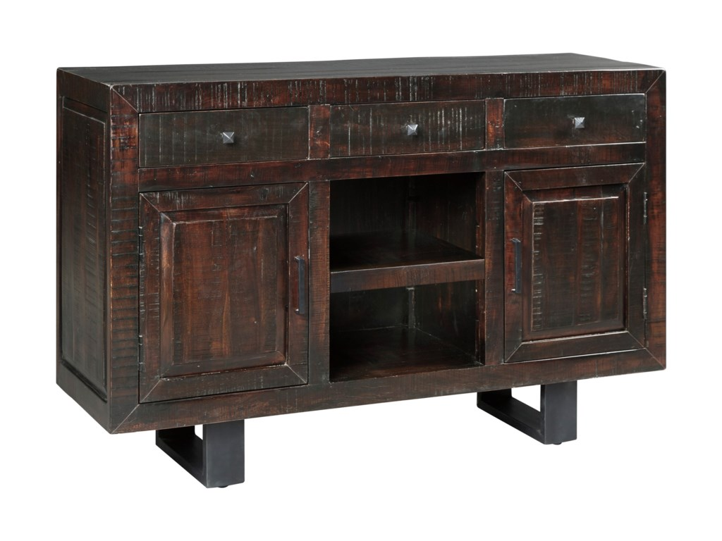 Signature Design by Ashley Parlone D721-60 Modern Rustic Dining ...