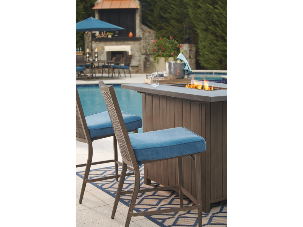Signature Design by Ashley PartannaOutdoor Barstool with Cushion