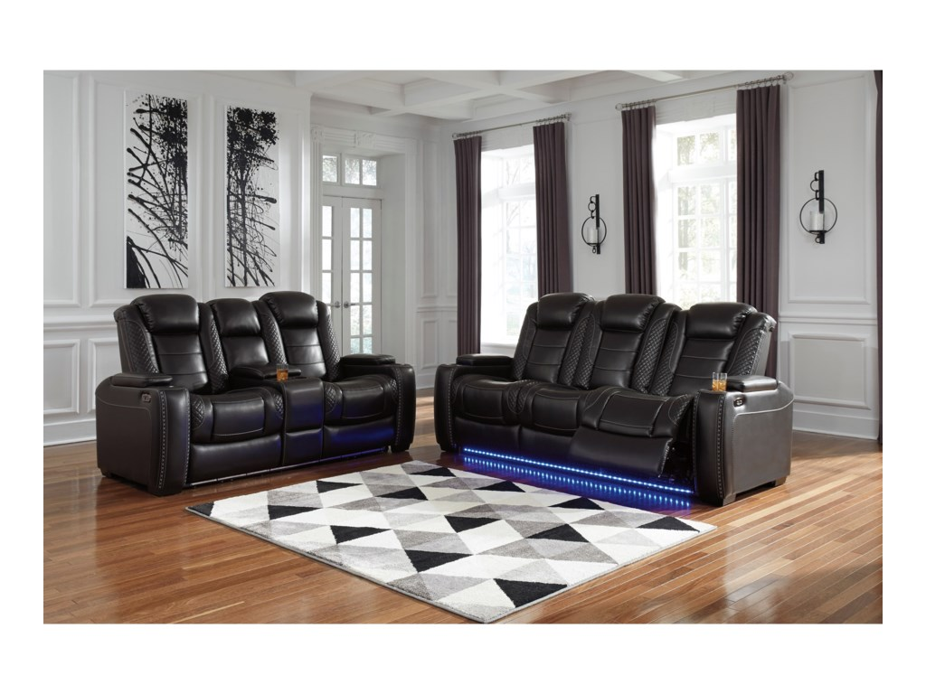 Signature Design by Ashley Party TimePower Reclining Living Room Group
