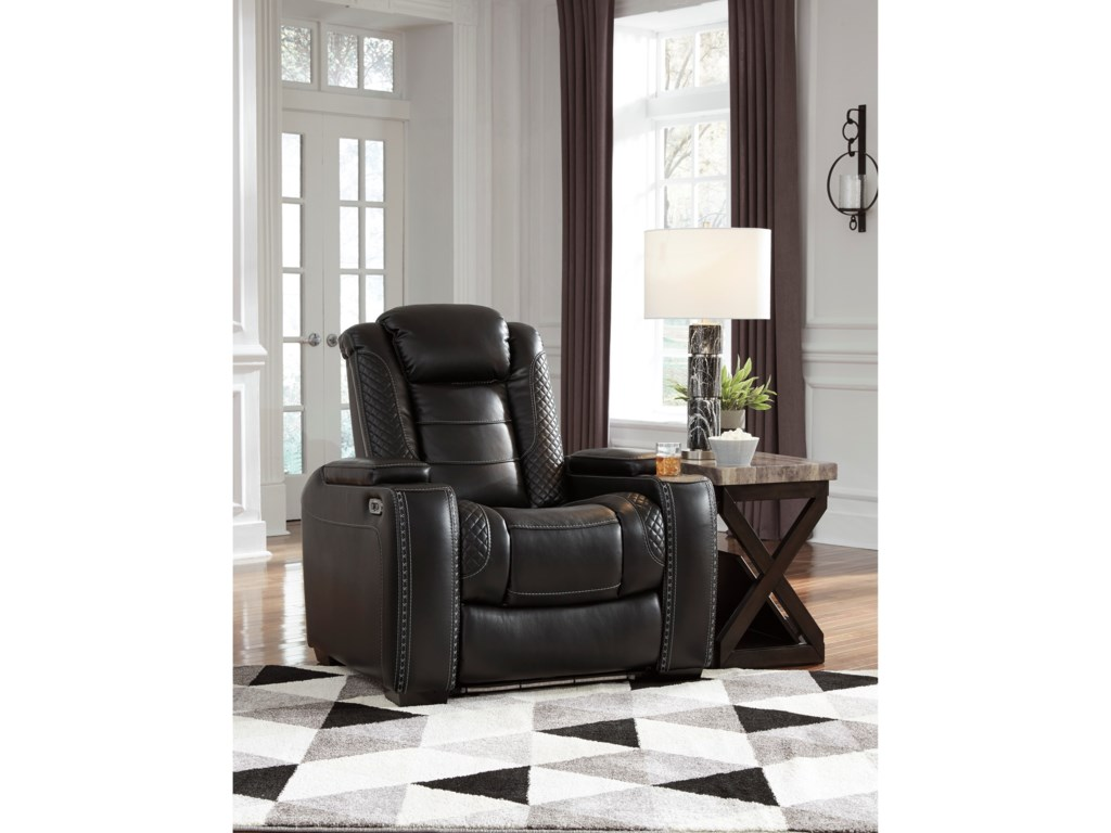 Signature Design by Ashley Party TimePower Recliner with Adjustable Headrest