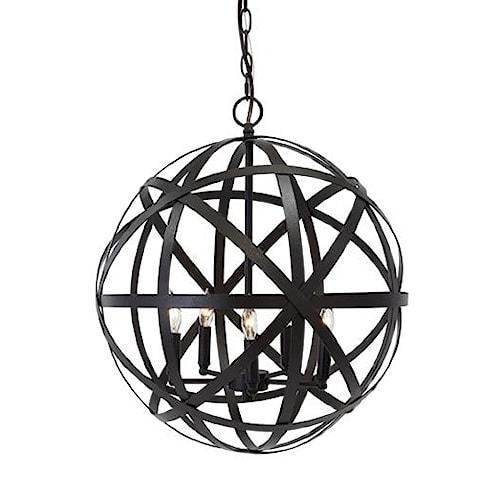 Signature Design by Ashley Pendant Lights Cade Antique Bronze Finish Metal Pendant Light
