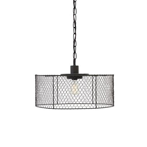 Signature Design by Ashley Pendant Lights Eavan Black Metal Pendant Light
