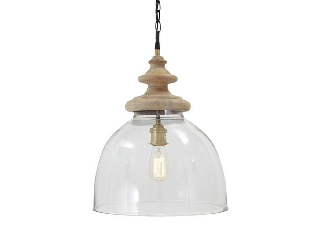 Signature Design by Ashley Pendant LightsFarica Transparent Glass Pendant Light