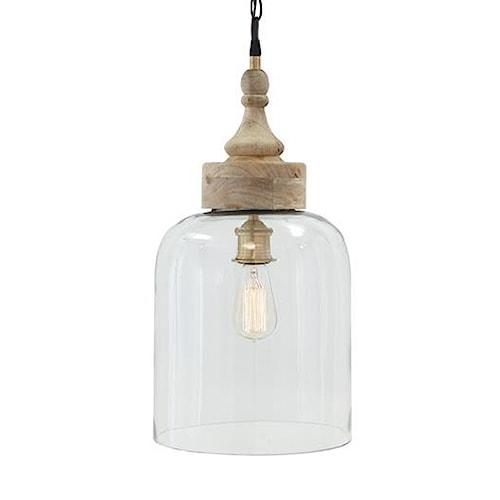 Signature Design by Ashley Pendant Lights Faiz Transparent Glass Pendant Light