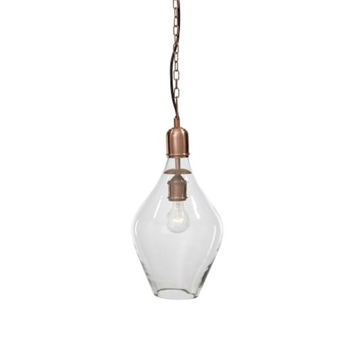 Signature Design by Ashley Pendant Lights Gaenor Clear/Copper Finish Glass Pendant Light
