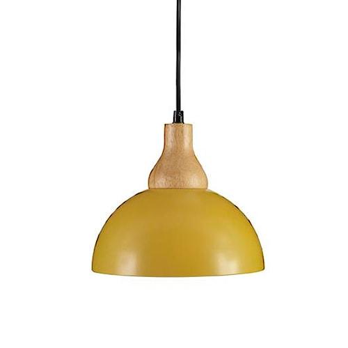Signature Design by Ashley Pendant Lights Idania Yellow Metal Pendant Light