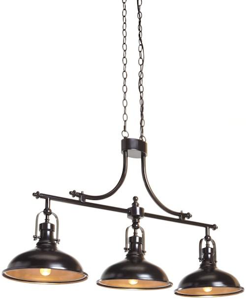 Signature design by ashley pendant lights joella bronze finish metal pendant light