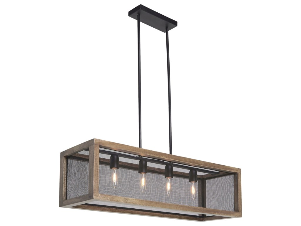 Pendant Lights Jodene Brown Black Wood Light By Signature Design Ashley At Rotmans