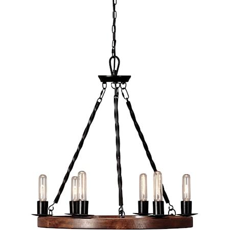 Plato Brown/Black Wood Pendant Light