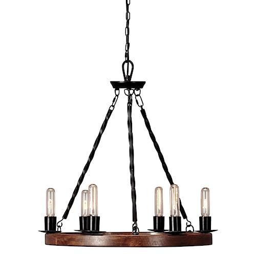 Signature Design by Ashley Pendant Lights Plato Brown/Black Wood Pendant Light