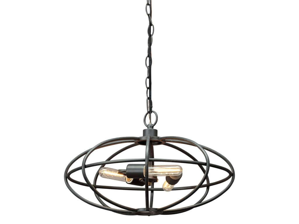 Benchcraft Pendant LightsKenturah Gray Metal Pendant Light