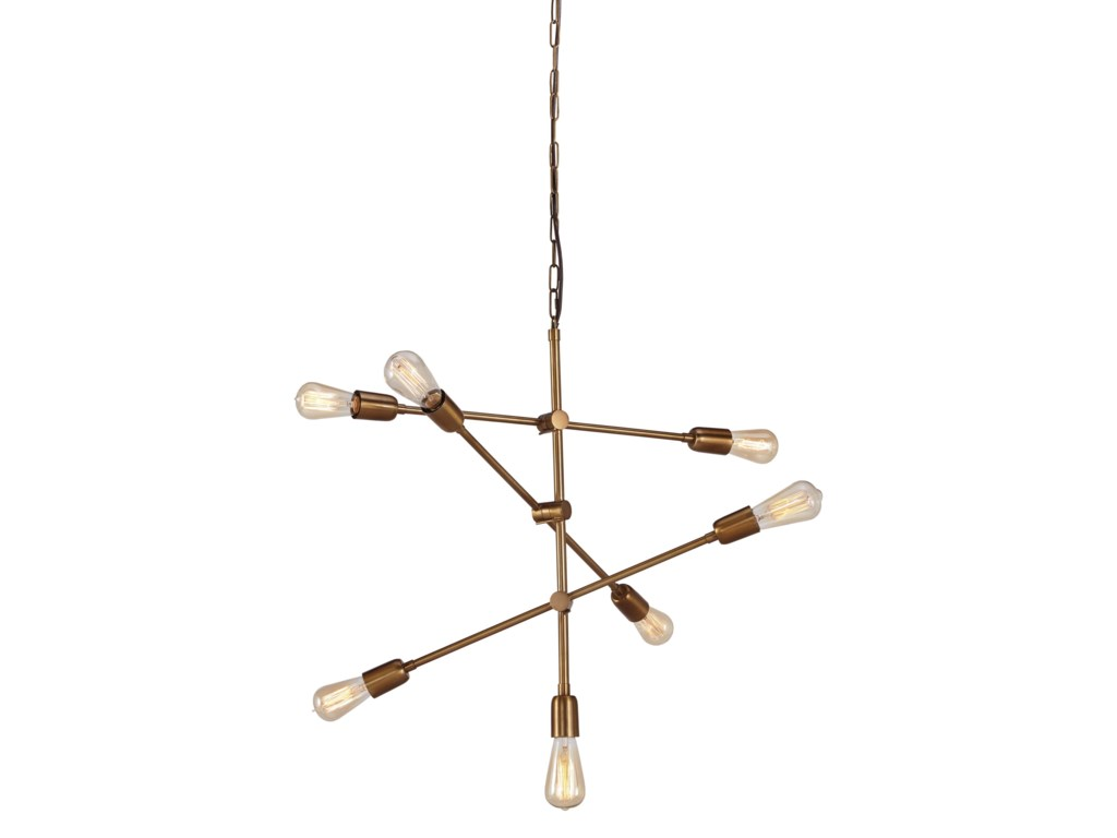 Signature Design by Ashley Pendant LightsNastalya Gold Finish Metal Pendant Light