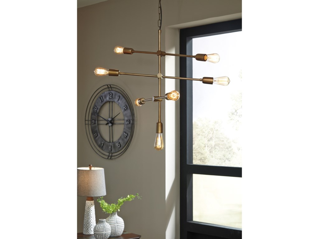 (Up to 50% OFF sale price) Collection # 3 Pendant LightsNastalya Gold Finish Metal Pendant Light