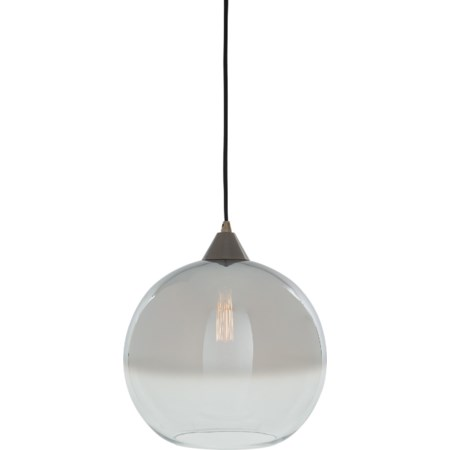 Minto Clear/Silver Glass Pendant Light