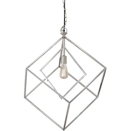 Neysa Silver Finish Metal Pendant Light