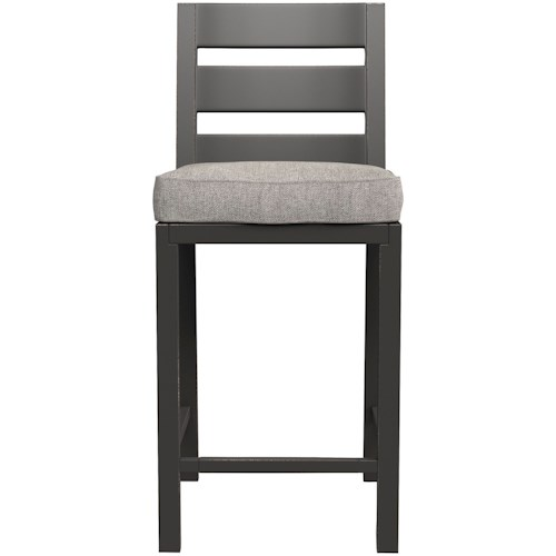 Signature Design by Ashley Perrymount Slat Back Barstool with Cushion