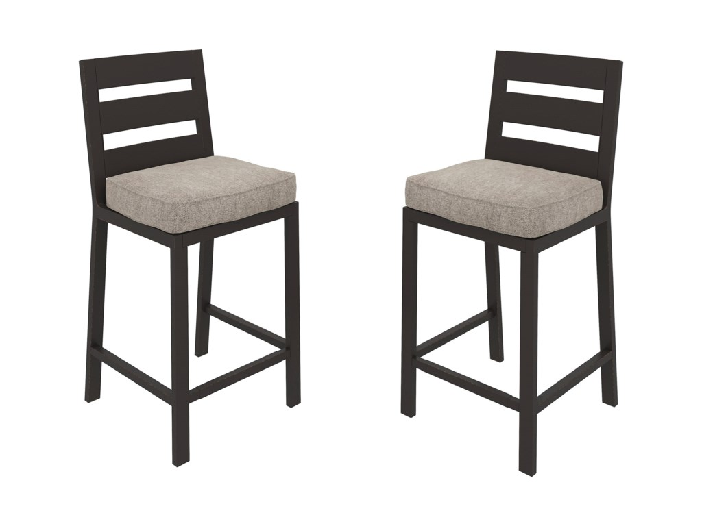 Signature Design by Ashley PerrymountSet of 2 Barstools with Cushion