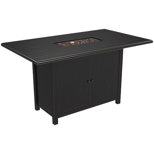 Signature Design by Ashley Perrymount Rectangular Fire Pit Bar Table