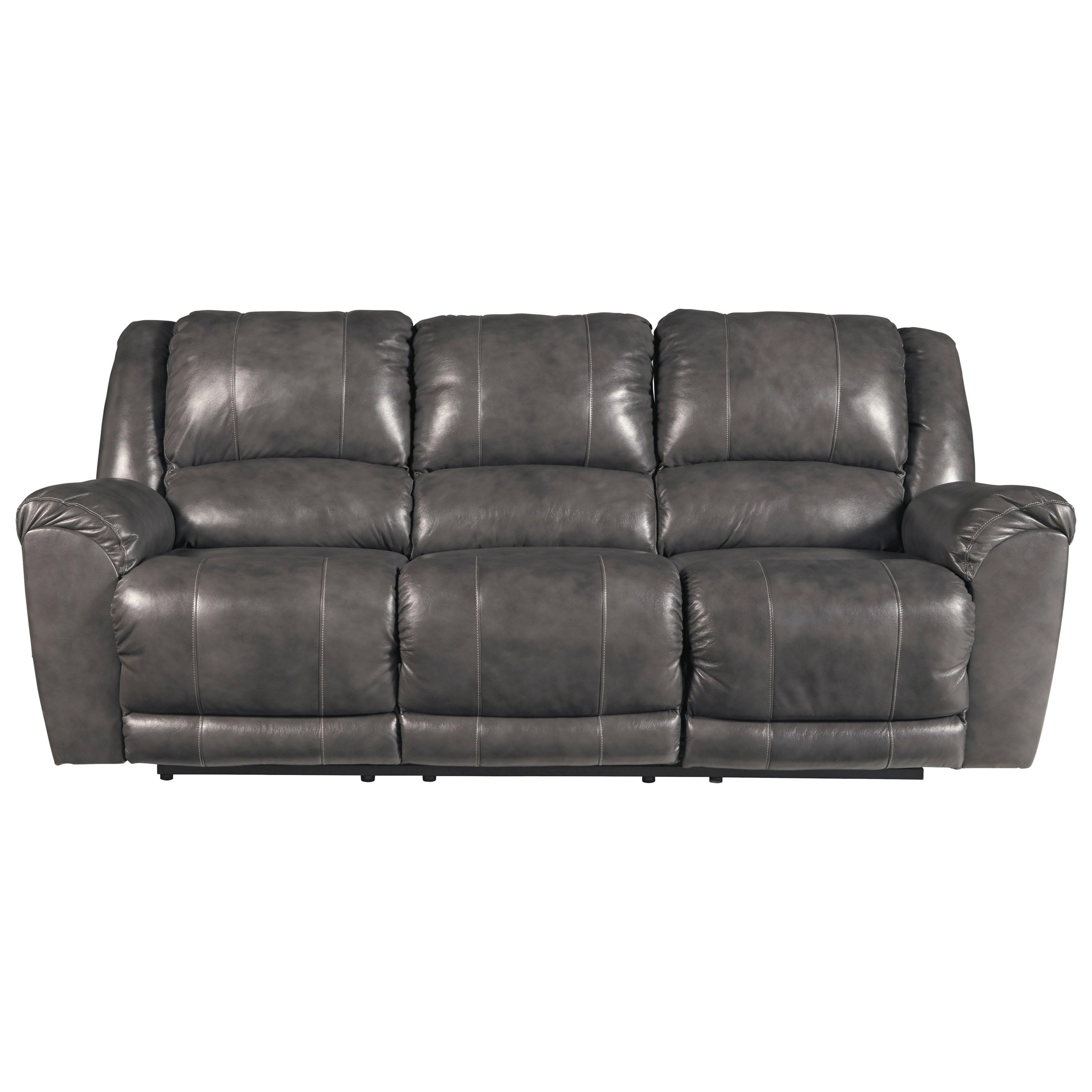 Nice Signature Design By Ashley FandangoReclining Leather Sofa ...