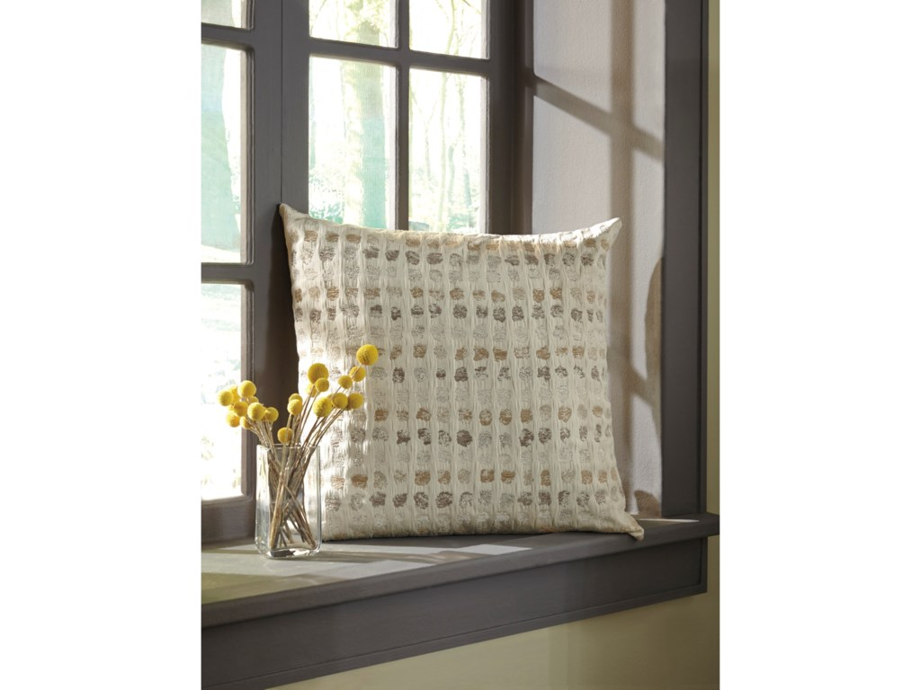 Signature Design by Ashley PillowsWhitehurst Cream/Taupe Pillow