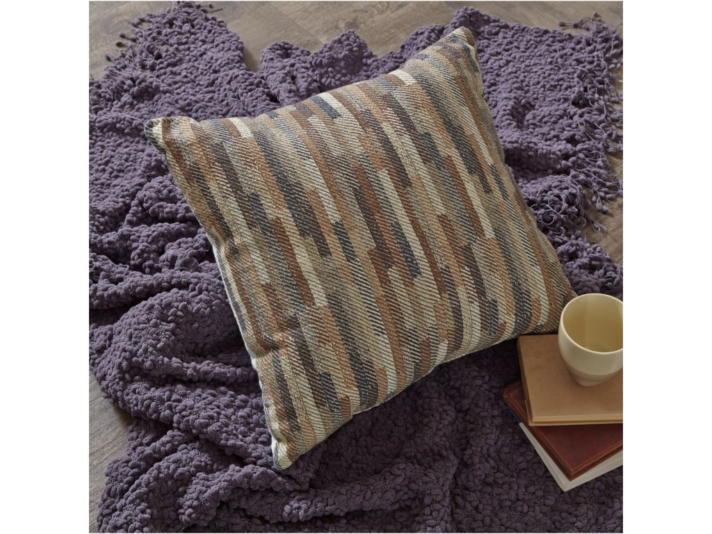 Signature Design by Ashley PillowsDaru Cream/Brown/Blue Pillow
