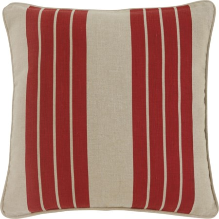 Striped - Red Pillow Cover, Set of 4